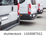 minibuses in the parking lot at ... | Shutterstock . vector #1103087312