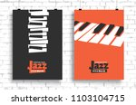 vector poster for a jazz... | Shutterstock .eps vector #1103104715