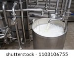 process of filling the milk... | Shutterstock . vector #1103106755