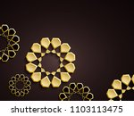 abstract background with 3d... | Shutterstock . vector #1103113475