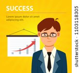 business man with up graph.... | Shutterstock .eps vector #1103118305