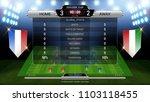 soccer football scoreboard ... | Shutterstock .eps vector #1103118455
