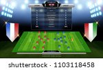 soccer football scoreboard ... | Shutterstock .eps vector #1103118458