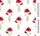 floral seamless pattern with... | Shutterstock . vector #1103123252