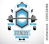 weight lifting exercise room...   Shutterstock .eps vector #1103126486