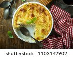 homemade fish pie with... | Shutterstock . vector #1103142902