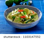filipino chicken and coconut... | Shutterstock . vector #1103147552