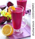 detox fresh red beetroot juice... | Shutterstock . vector #1103149892