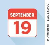 september 19 calendar reminder... | Shutterstock .eps vector #1103151902