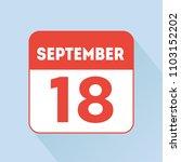 september 18 calendar reminder... | Shutterstock .eps vector #1103152202