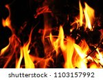 Small photo of Blurred blaze fire flame texture background