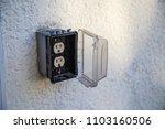 outdoor power plug in... | Shutterstock . vector #1103160506