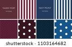 pattern tawny port navy peony... | Shutterstock .eps vector #1103164682