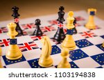 chess board with european union ... | Shutterstock . vector #1103194838