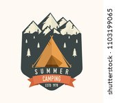 camping club. vector... | Shutterstock .eps vector #1103199065