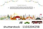 bangkok in thailand and... | Shutterstock .eps vector #1103204258