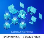 blockchain technology vector... | Shutterstock .eps vector #1103217836