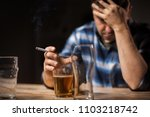 alcoholism  alcohol addiction... | Shutterstock . vector #1103218742