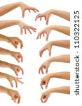 set of hands of a caucasian... | Shutterstock . vector #110322125