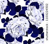 seamless pattern with roses.... | Shutterstock .eps vector #1103224502