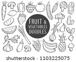 collection of hand drawn... | Shutterstock .eps vector #1103225075