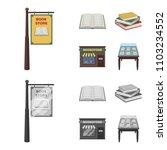 a signboard  a bookstore  a... | Shutterstock . vector #1103234552