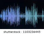 audio sound wave studio editing ... | Shutterstock . vector #1103236445