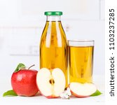 apple juice apples fruit fruits ... | Shutterstock . vector #1103237285