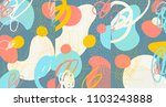 creative doodle art header with ... | Shutterstock .eps vector #1103243888