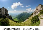 the gorge on the great rozsutec ... | Shutterstock . vector #1103249108