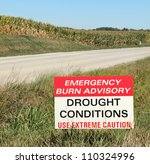 """drought conditions"" warning... 
