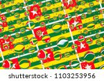 flags  of togo  behind a glass... | Shutterstock . vector #1103253956