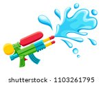 water gun illustration. plastic ... | Shutterstock .eps vector #1103261795