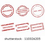 unplugged stamps | Shutterstock .eps vector #110326205