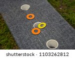 washer toss game fun bag yard... | Shutterstock . vector #1103262812
