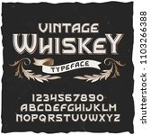 whiskey. vector vintage... | Shutterstock .eps vector #1103266388
