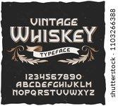 whiskey. vector vintage...   Shutterstock .eps vector #1103266388