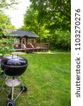 charcoal grill cabin outdoor... | Shutterstock . vector #1103270276