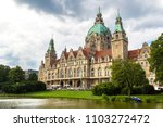 Stock photo new city hall in hannover in a beautiful summer day germany 1103272472