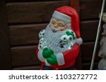 santa claus plastic statue... | Shutterstock . vector #1103272772