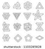 set of impossible shapes.... | Shutterstock .eps vector #1103285828