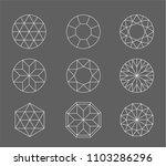 diamond. vector set of gems...   Shutterstock .eps vector #1103286296