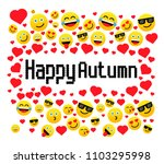 happy autumn  greeting card...   Shutterstock .eps vector #1103295998