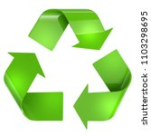 green recycling arrows sign... | Shutterstock . vector #1103298695