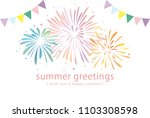 summer greeting card of... | Shutterstock .eps vector #1103308598