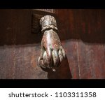 A Well Worn Ornate Door Knocker