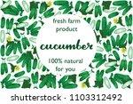 vector illustration of cucumber ...   Shutterstock .eps vector #1103312492