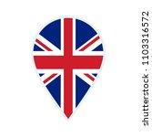 united kingdom flag icon.... | Shutterstock .eps vector #1103316572