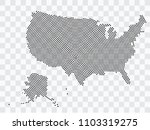 abstract black map of united... | Shutterstock .eps vector #1103319275