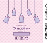 baby shower design | Shutterstock .eps vector #1103367692